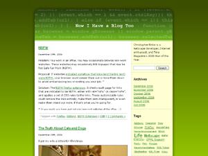 Screenshot of Greencode WordPress theme