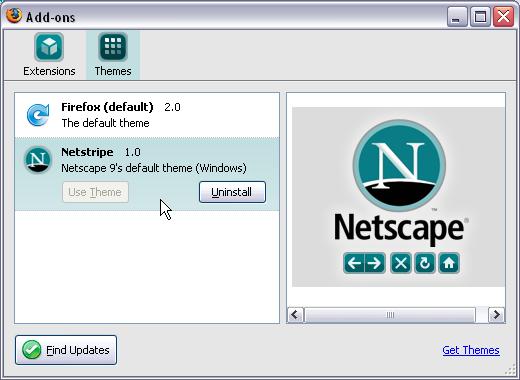 Netstripe: Netscape 9's Theme for Firefox