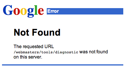 404 error on Google that could have been avoided