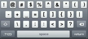 IPhone Keyboard Consisting Of Only Symbols