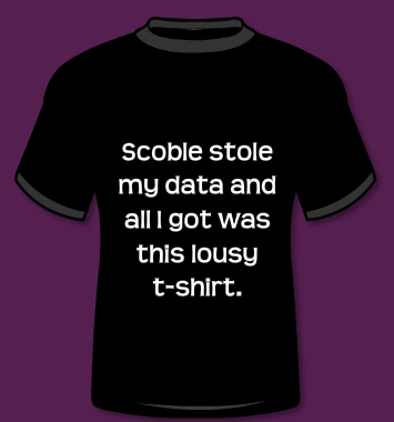 Robert Scoble stole my data and all I got was this lousy t-shirt.
