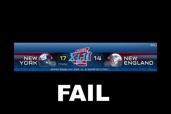 Patriots = FAIL