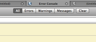 Firefox's Error Console in a tab