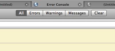 Firefox's Error Console in a tab