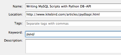 Assigning a keyword to a bookmark in Firefox 3