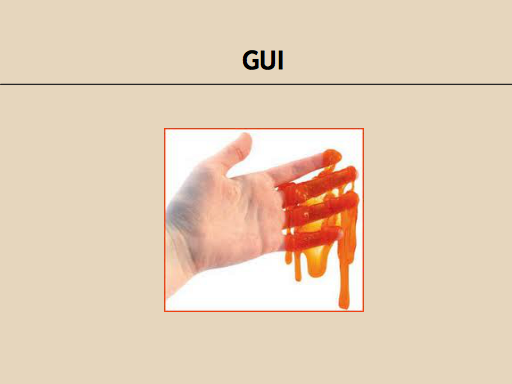 GUI: A hand covered in something gooey.