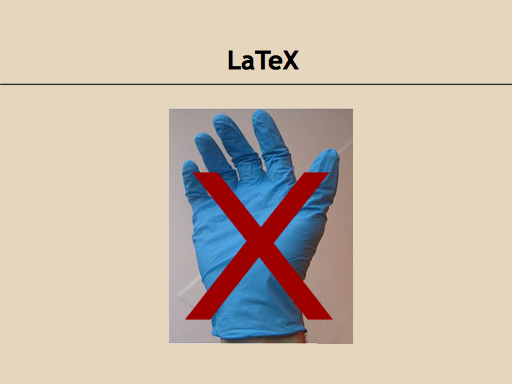 LaTeX is not the same as latex.