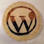 A WordPress pie, ready to be baked.