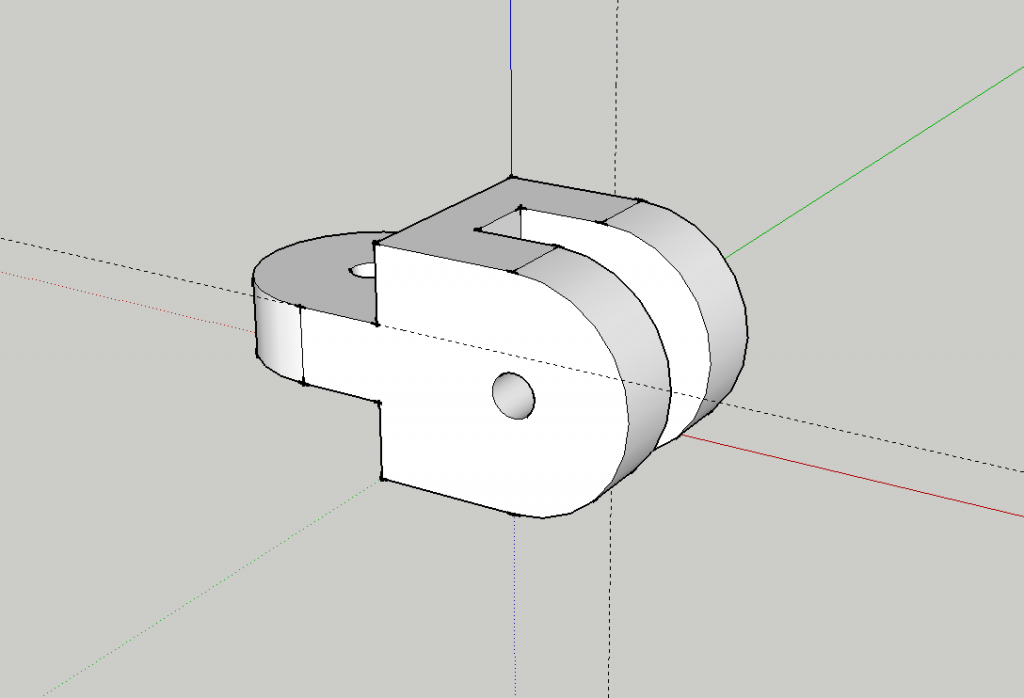 Pivot Bracket in SketchUp