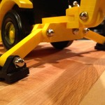 Backhoe stabilizers
