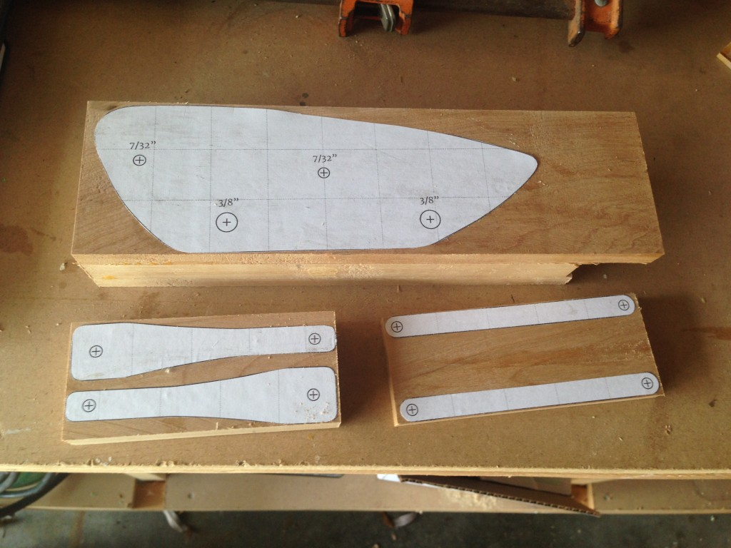 3 - Templates glued in place