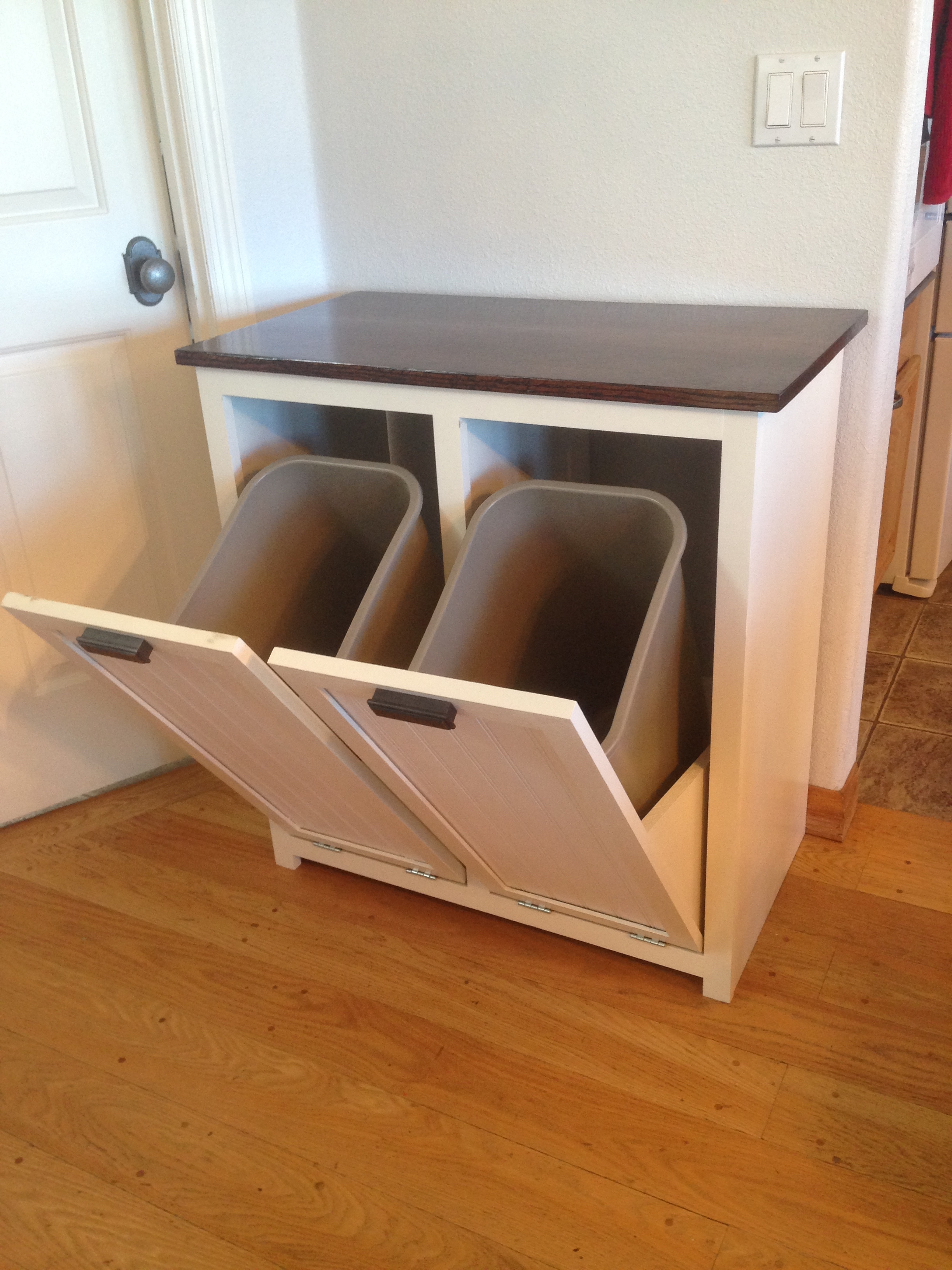 I Built A Tilt Out Trash Can Cabinet